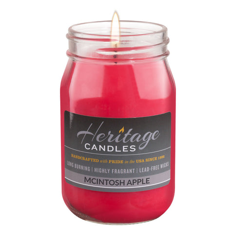 16-oz Canning Jar Candle - McIntosh Apple
