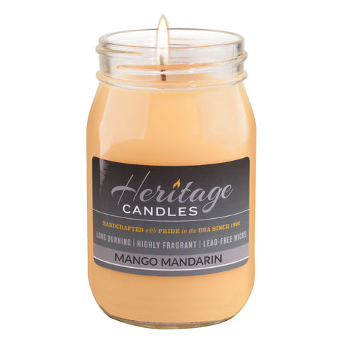 16-oz Canning Jar Candle - Mango Mandarin