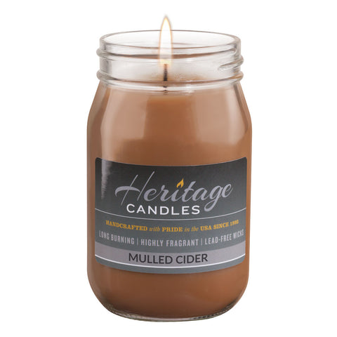 16-oz Canning Jar Candle - Mulled Cider