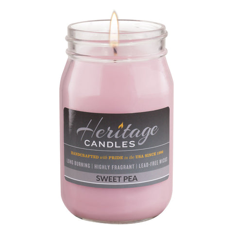 16-oz Canning Jar Candle - Sweet Pea