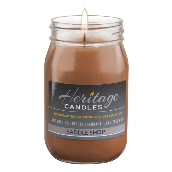 16-oz Canning Jar Candle - Saddle Shop