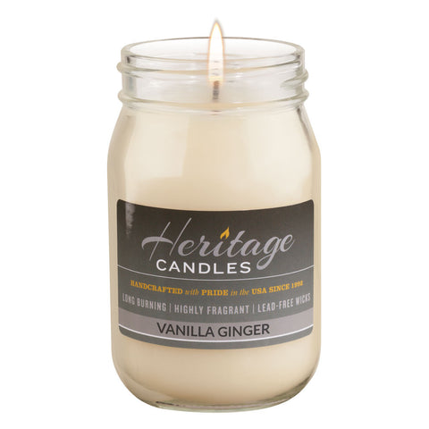 16-oz Canning Jar Candle - Vanilla Ginger