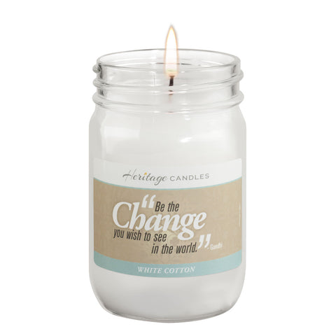 12-oz CHANGE - White Cotton