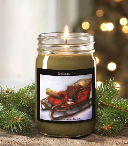 12-oz. Holiday - Balsam Fir Canning Jar Candle