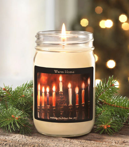 12-oz. Holiday - Warm Home Canning Jar Candle
