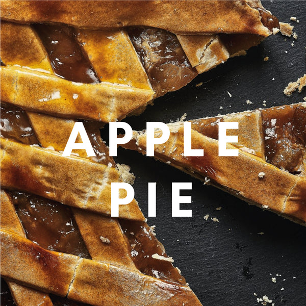 Apple Pie Flavour E-liquid. Available in Three Flavour Strengths