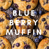 Blueberry Muffin Flavour E-liquid. Available in Three Flavour Strengths