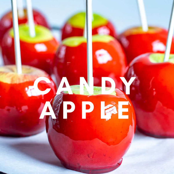 Candy Apple Flavour E-Liquid. Available in Three Flavour Strengths