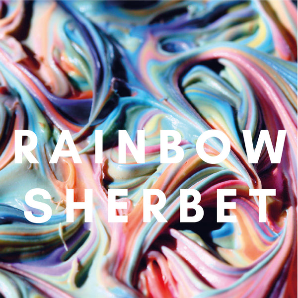 Rainbow Sherbet Flavour E-Liquid. Available in Three Flavour Strengths