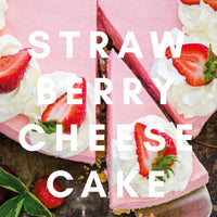 Strawberry Cheesecake Flavour E-liquid. Available in Three Flavour Strengths