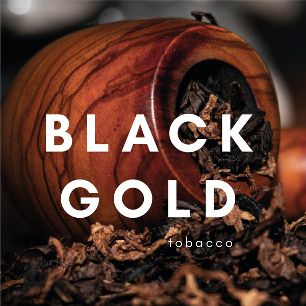 Black Gold Flavour E-liquid. Available in Three Flavour Strengths