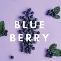 Blueberry Flavour E-liquid. Available in Three Flavour Strengths