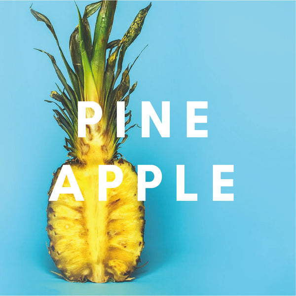 Pineapple Flavour E-liquid. Available in Three Flavour Strengths