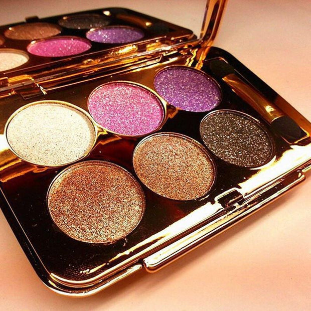 6 COLORS DIAMOND BRIGHT COLORFUL EYE SHADOW MAKE UP