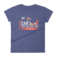 Can't Take The  Party Out Of The Girl Women's short sleeve t-shirt