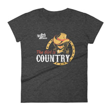 The Girl Is Country Women's short sleeve t-shirt