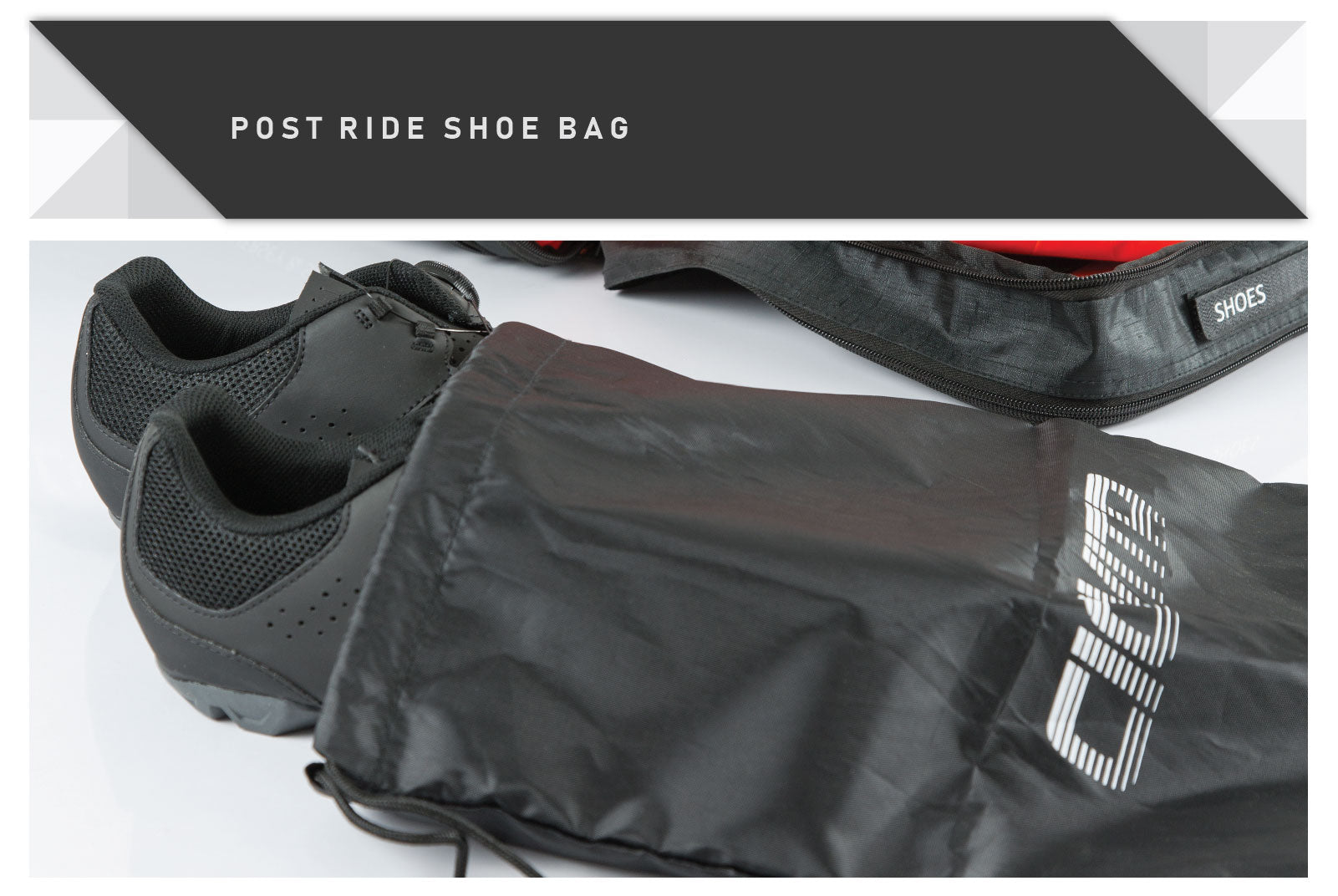 Dedicated post ride shoe bag