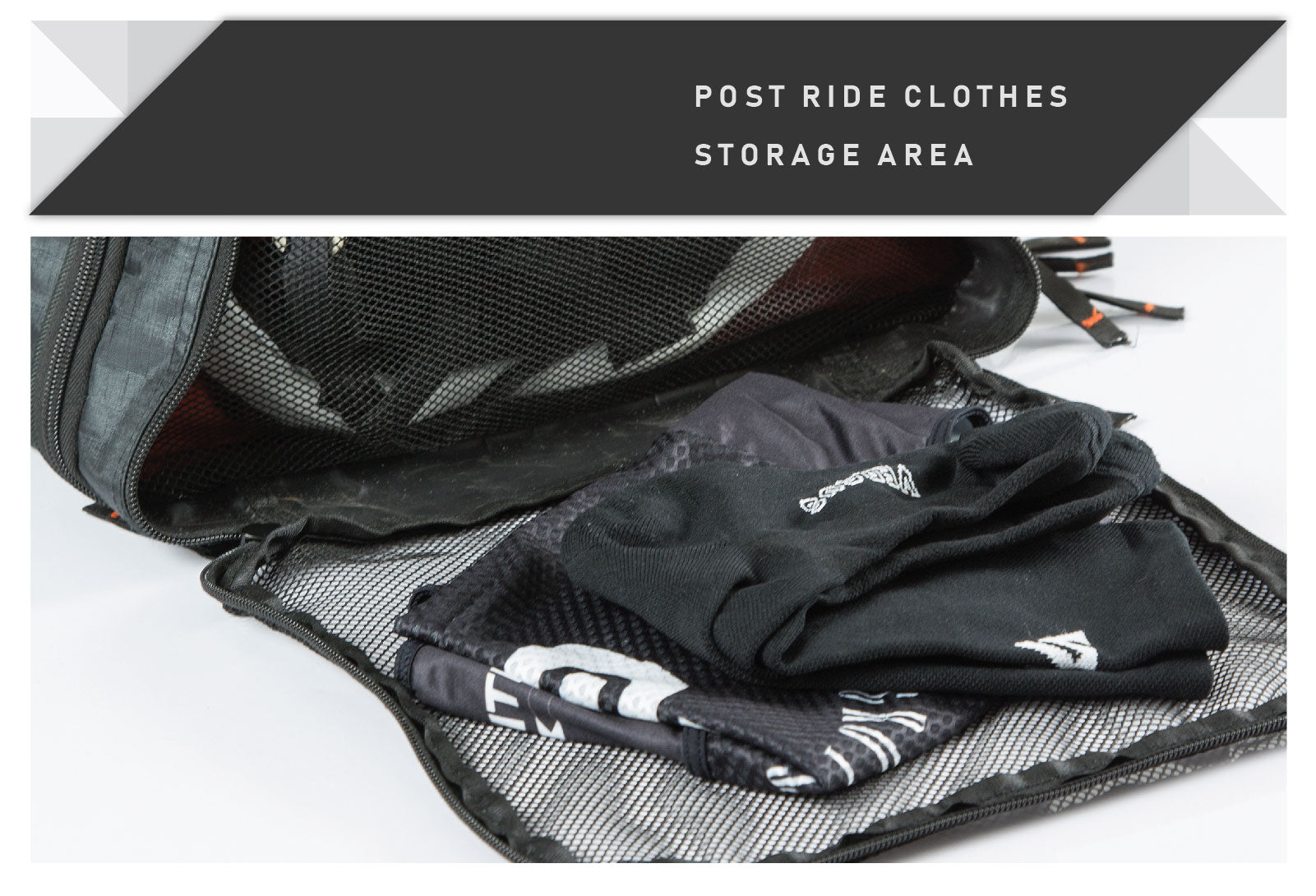 Essentials Kit Bag post ride storage