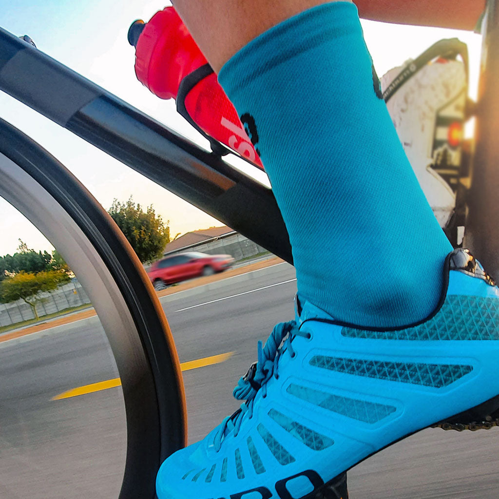 Ciovita High Top Cycling Socks (Blue)