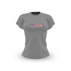 Ladies Grey USA Flag T Shirt