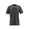 Men's Fitted Logo T-Shirt - Plain Black