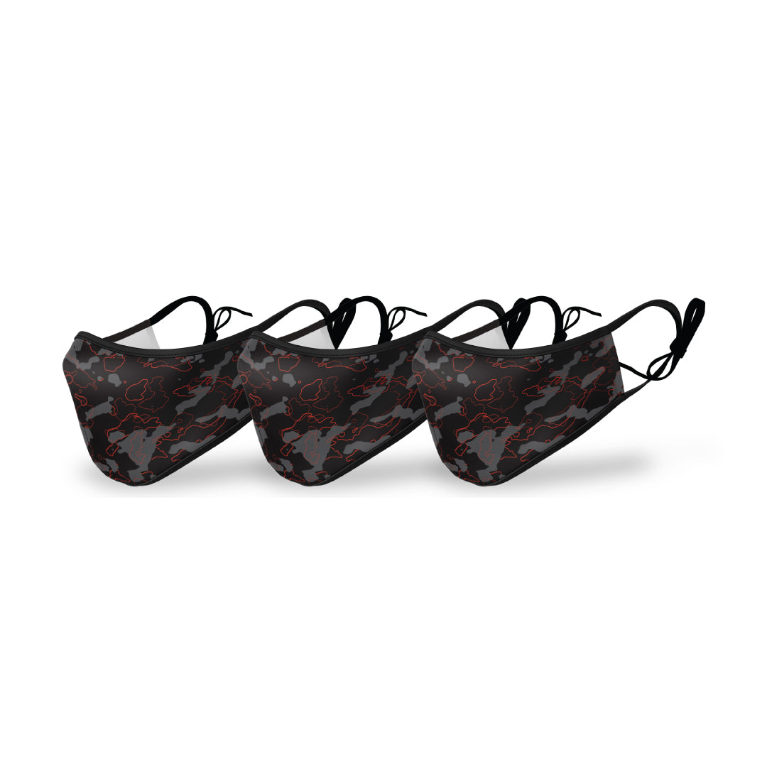 Camo Premium Printed Face Mask (3PK) - Filters Included