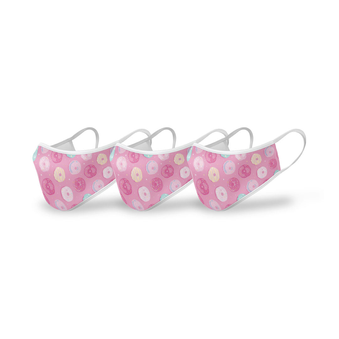 JUNIOR Donut Printed Face Mask (3PK) - Filters Included