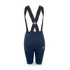 back view ladies cycling bib shorts navy