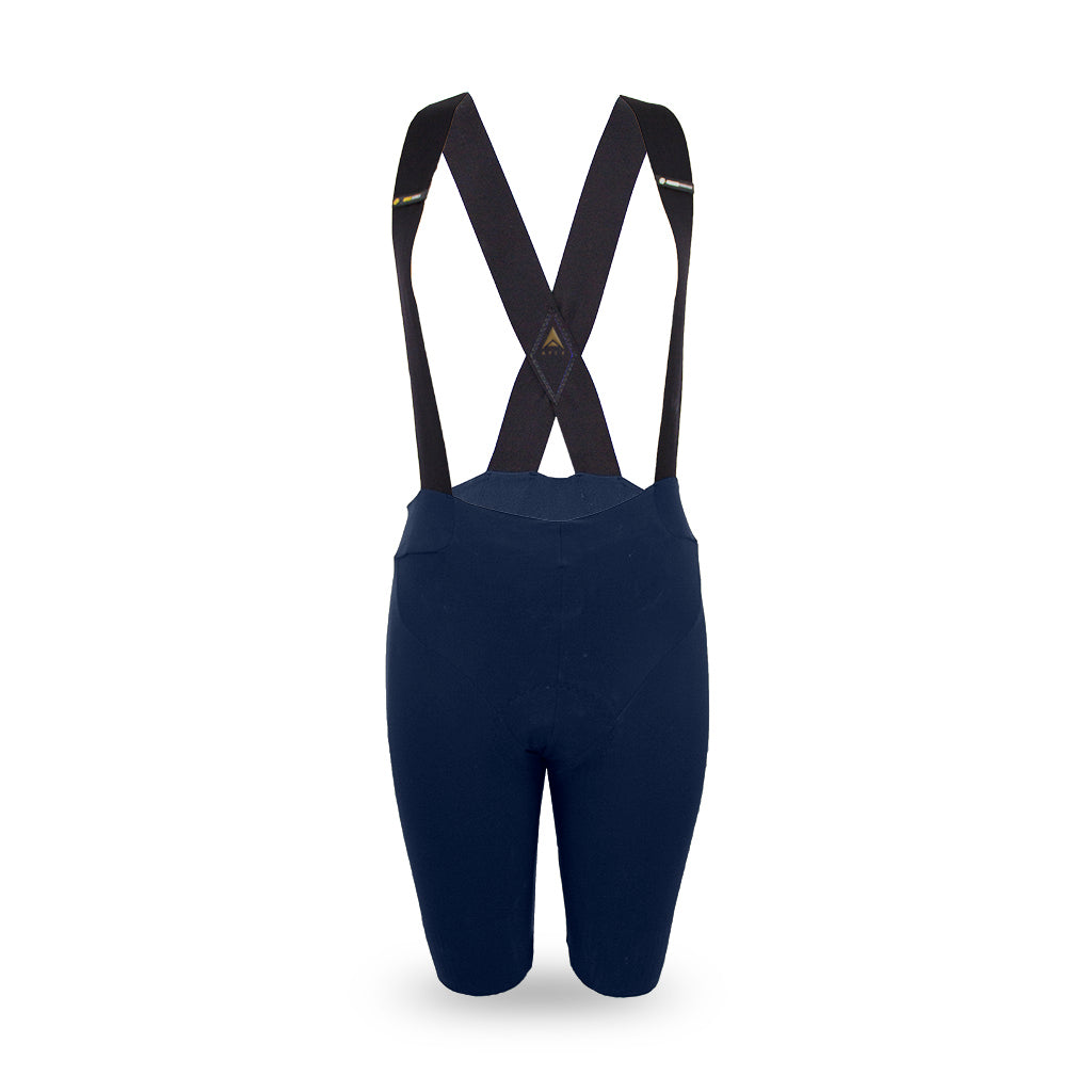 ladies navy elite cycling bib shorts