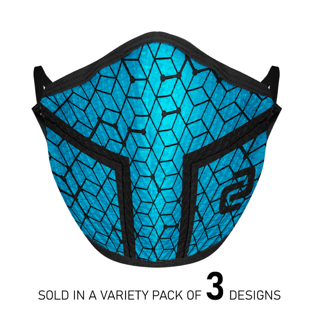 Multipack 4-Layer Sports Face Mask (3PK)