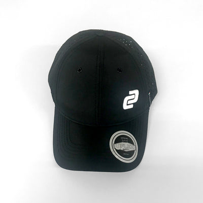 Black Curved Peak Tech Mesh Snapback Cap