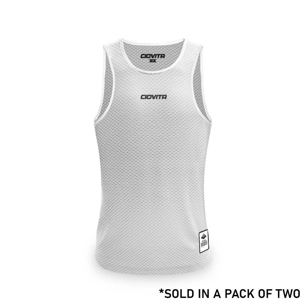 Men's Strato Undervest (2Pk White and Grey)