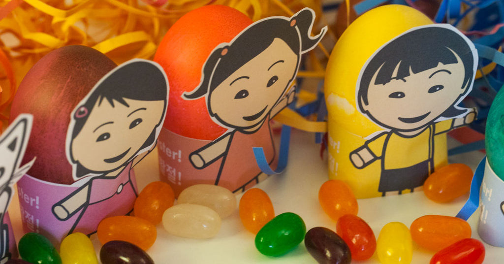 Make Easter Egg Wraps with Your Favorite Doogaji Characters