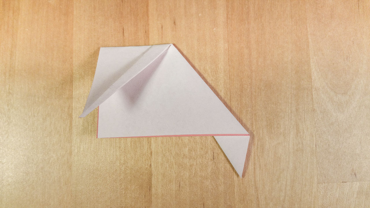 Step 6: Flip over, then fold the point down to the bottom corner.