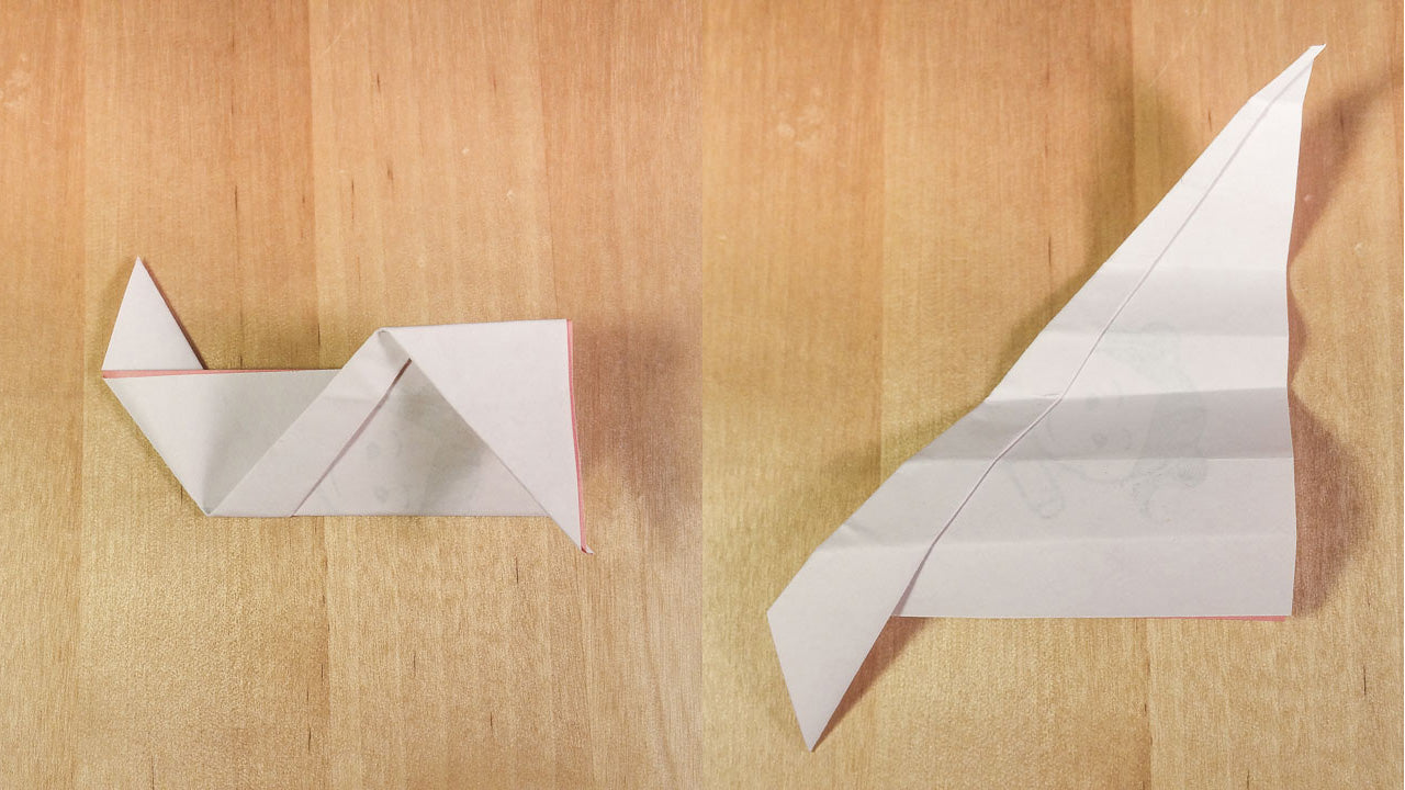 Step 8: Flip over and while keeping the last fold closed fold the other way, to make eight sections with alternating folds.