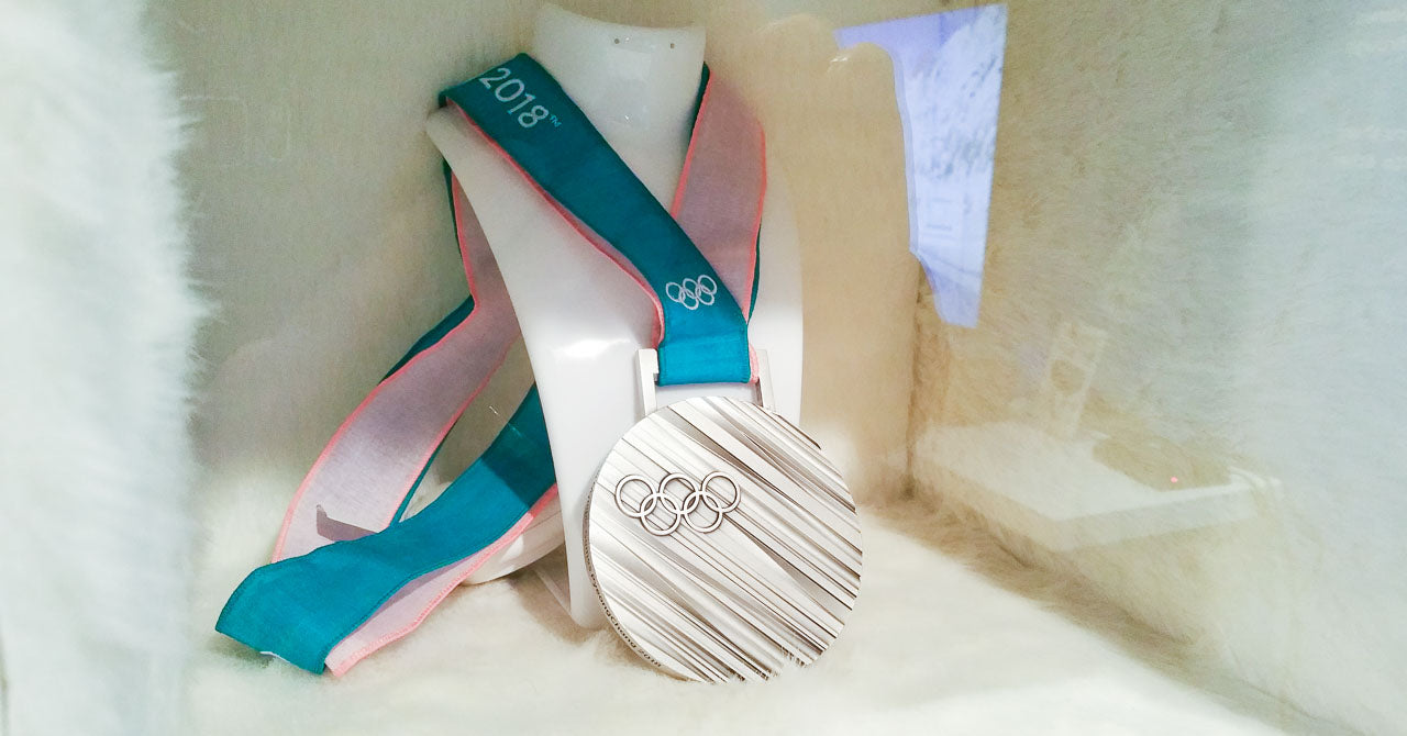 A silver medal for the XXIII Olympic Winter Games