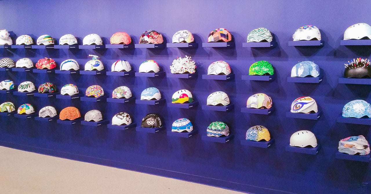 A selection of helmets