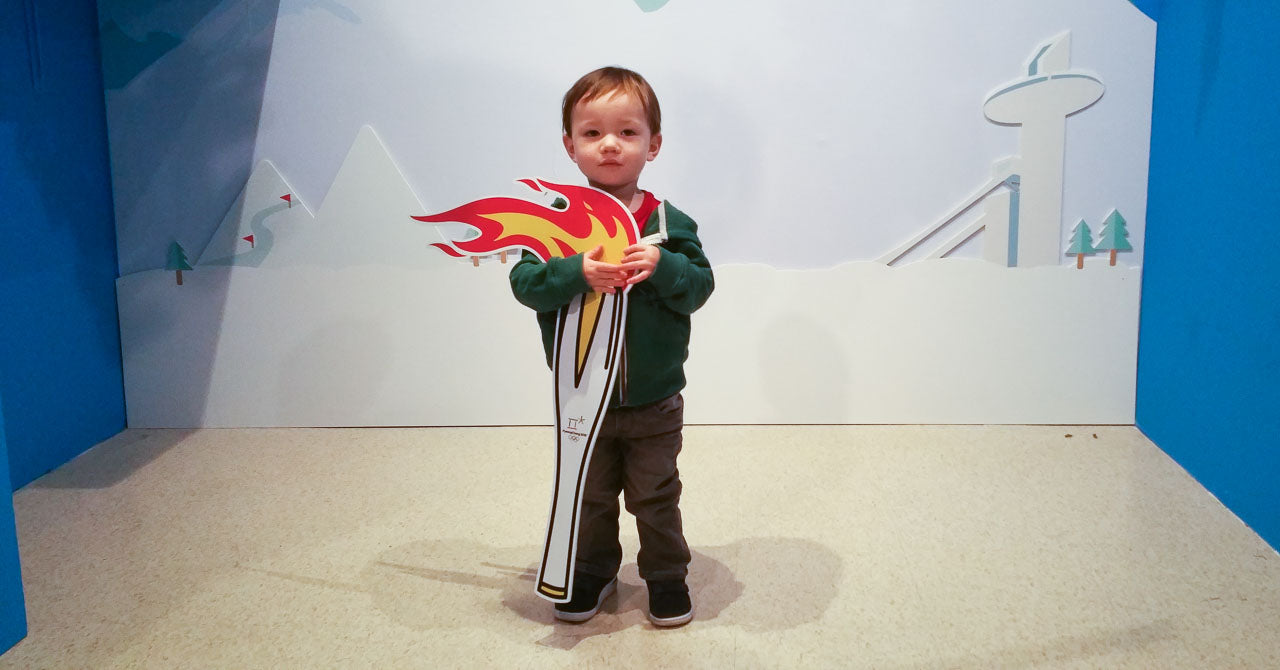 Our son with the Olympic torch!