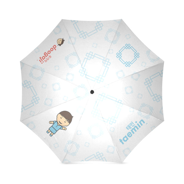 Umbrella with Taemin logo, character, hyoong bae and Doogaji logo