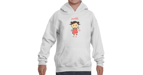 Youth Hoodie with Joohee logo, character, hyoong bae and Doogaji logo