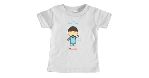 Infant t-shirt with Taemin logo, character, hyoong bae and Doogaji logo