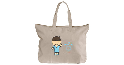 Canvas Zippered Tote with Taemin logo, character, hyoong bae and Doogaji logo