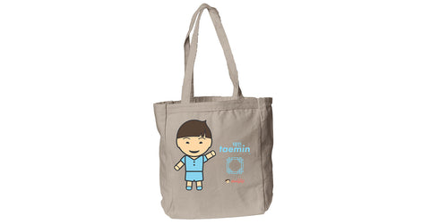 Canvas Book Tote with Taemin logo, character, hyoong bae and Doogaji logo