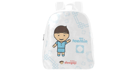 Small School Backpack with Taemin logo, character, hyoong bae and Doogaji logo