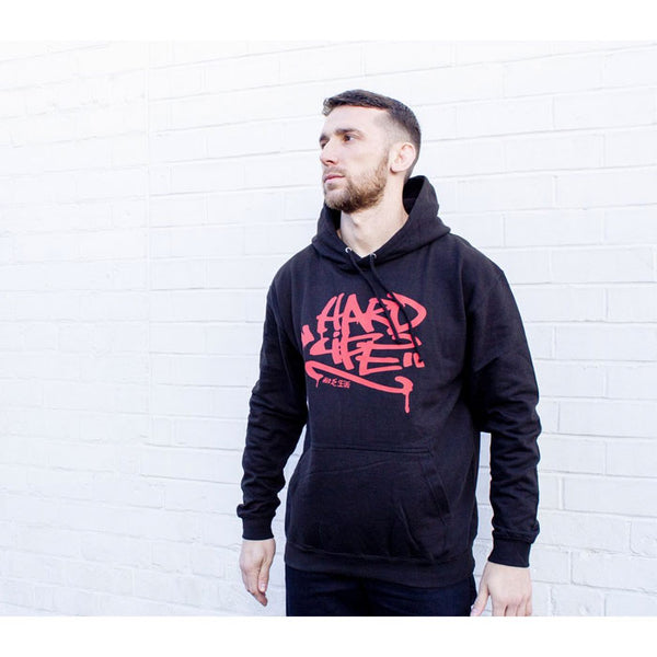 Graffiti Hoodie Black & Red