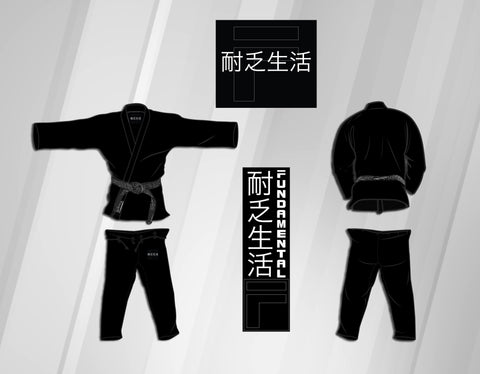 Youth Fundamental Kimono Gi - Black