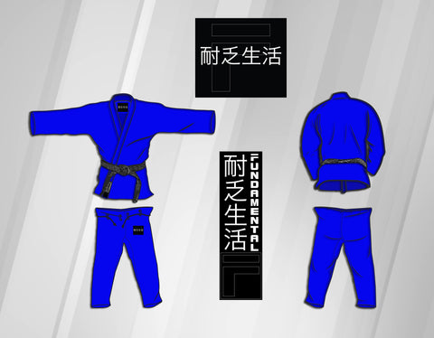 Youth Fundamental Kimono Gi - Blue