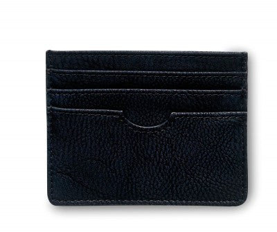 Stylish black card holder. Stilren svart korthållare.