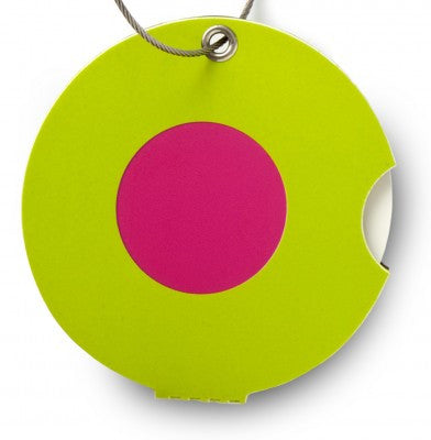 Luggage tag, dot pink