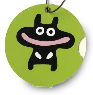 Luggage tag, happy green